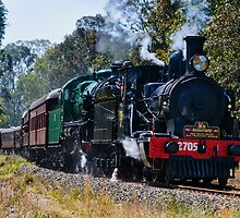 Double Header 2705 & 3642 by Chris  Randall