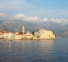 Old Town Budva in Montenegro by kirilart