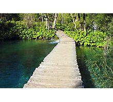 Wooden Pathway in Plitvice Lakes Photographic Print
