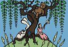 Teddy Bear And Bunny - Lazy Summer Day by Brett Gilbert
