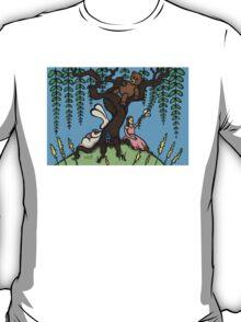 Teddy Bear And Bunny - Lazy Summer Day T-Shirt