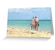 Walking Couple Greeting Card