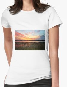 Sunset And Reflections Womens Fitted T-Shirt