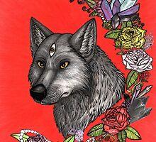 Wolf's Third Eye - A Spiritual Self Portrait by UnChienAndalou
