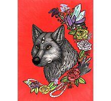 Wolf's Third Eye - A Spiritual Self Portrait Photographic Print