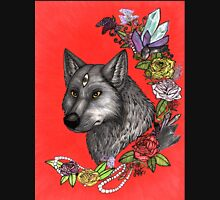 Wolf's Third Eye - A Spiritual Self Portrait Womens Fitted T-Shirt