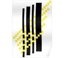 lines and light rays Poster