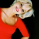 Cheeky lady in red by Debbie-anne