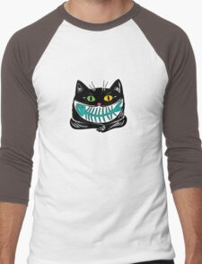 cat and fish Men's Baseball ¾ T-Shirt