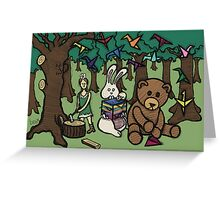 Teddy Bear And Bunny - Paper Swans Greeting Card