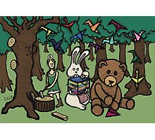Teddy Bear And Bunny - Paper Swans Photographic Print