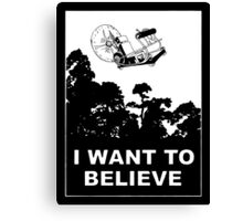 I Want To Believe in Time Machine Canvas Print