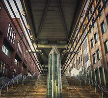 Under the Millennium Bridge London by Pancake76