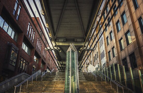 Under the Millennium Bridge London by Pancake76