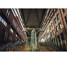Under the Millennium Bridge London Photographic Print