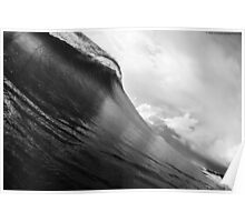 Overcast waves Poster