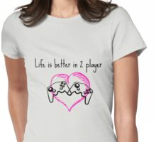 2 Player  Womens Fitted T-Shirt