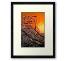 Hands to Give Framed Print
