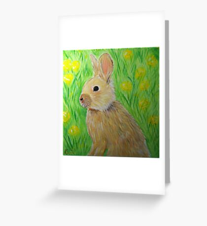 Bunny in Buttercups Greeting Card