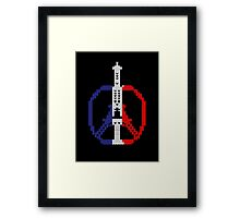 Knitted Peace For Paris Framed Print
