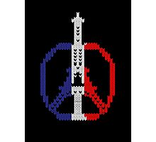 Knitted Peace For Paris Photographic Print