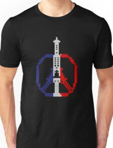 Knitted Peace For Paris Unisex T-Shirt