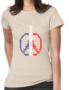 Knitted Peace For Paris Womens Fitted T-Shirt