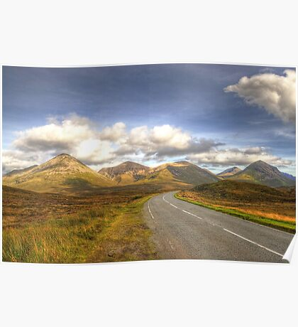 The Cuillin Mountains of Skye Poster