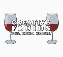Wine, the Fluid of Creativity Kids Tee