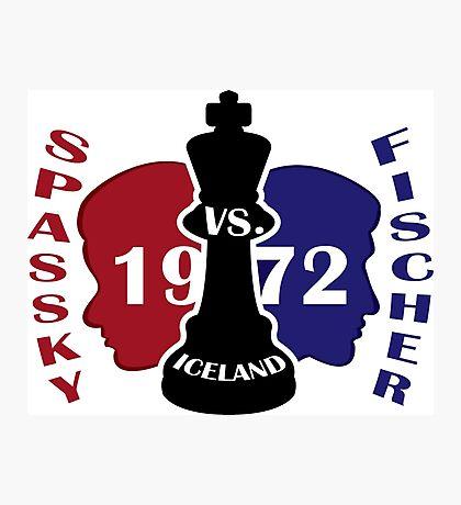 Fischer vs. Spassky 1972 Photographic Print
