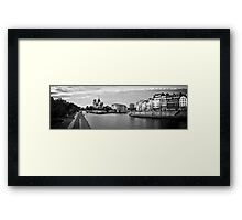 Ile Saint-Louis Panorama BW Framed Print