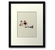 Assault and Battery Love Story Framed Print