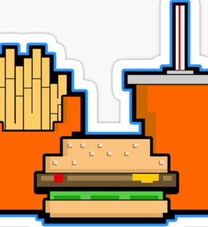 8 Bit Meal Deal Sticker