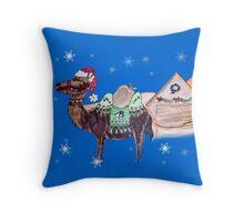 Christmas on the Nile West Bank Throw Pillow