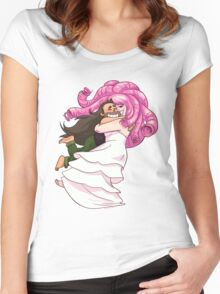 SPIN! Steven Universe: Greg and Rose Quartz Women's Fitted Scoop T-Shirt