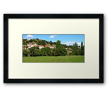 Village Panorama Framed Print