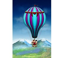 Flying Pig - Balloon - Up up and Away Photographic Print