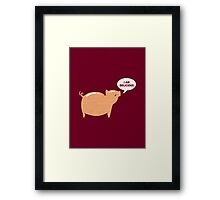 An Honest Meal Framed Print