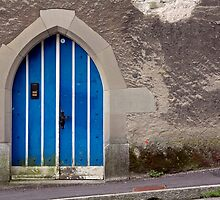Blue Door in Luzern by Matt Becker