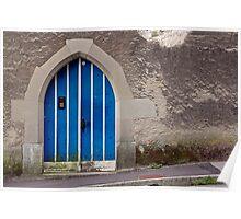 Blue Door in Luzern Poster