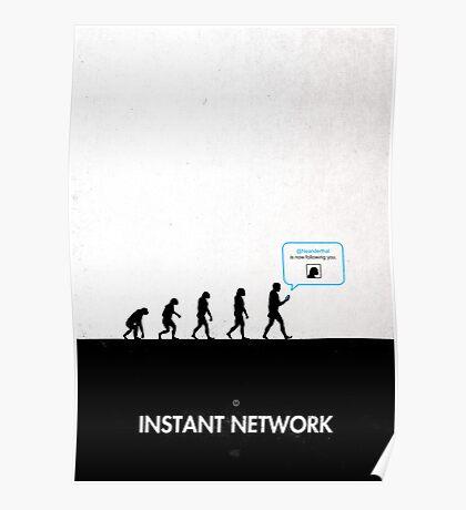 99 Steps of Progress - Instant network Poster