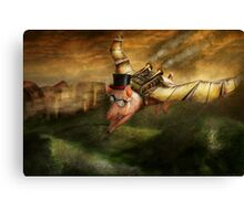 Flying Pig - Steampunk - The flying swine Canvas Print