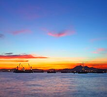 Sunset in Hong Kong at summer time by kawing921