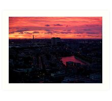 Rotterdam at Sunset, from Euromast Art Print