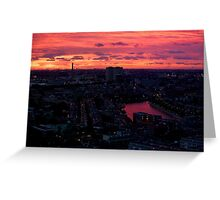 Rotterdam at Sunset, from Euromast Greeting Card
