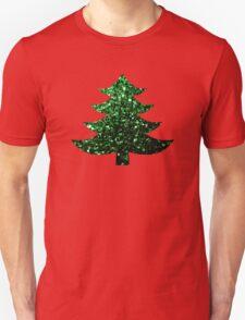 Christmas tree green sparkles  Unisex T-Shirt