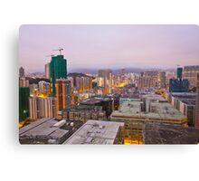 Hong Kong downtown at dawn Canvas Print