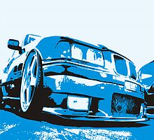 Pop art BMW E36 by GKuzmanov