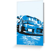 Pop art BMW E36 Greeting Card