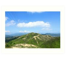 Mountain landscape in Hong Kong Art Print
